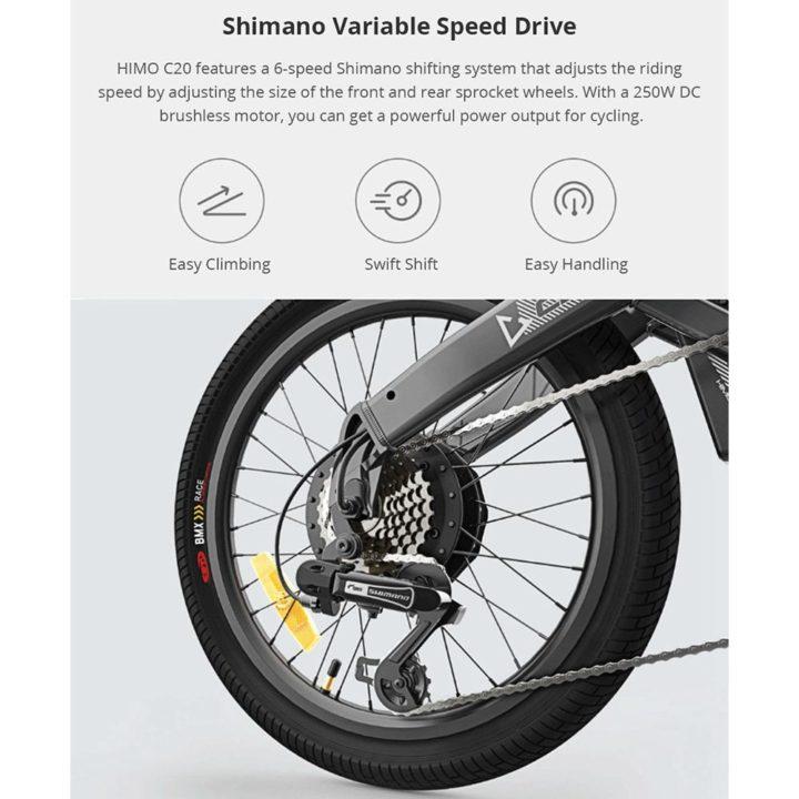 bici-elettrica-Xiaomi-HIMO-C20-12-720x720 Codice sconto Bici elettrica Xiaomi HIMO C20: motore da 250W, 25km/h