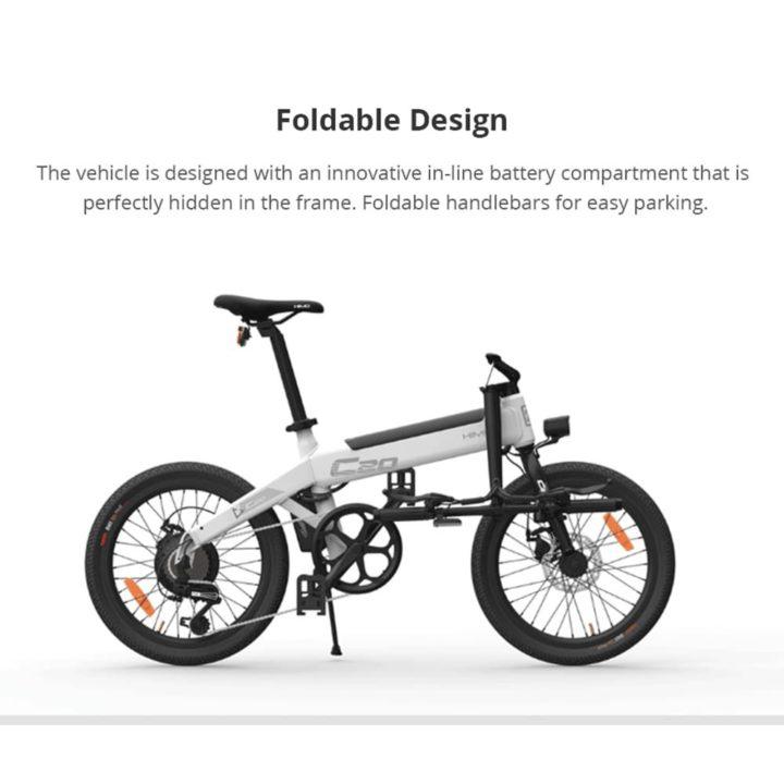 bici-elettrica-Xiaomi-HIMO-C20-3-720x720 Codice sconto Bici elettrica Xiaomi HIMO C20: motore da 250W, 25km/h