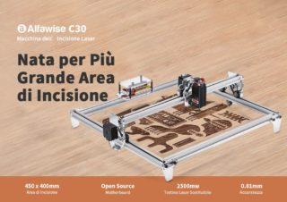 Alfawise-C30-2500mw-1-320x226 Codice Sconto Alfawise C30 a 151€, l'incisore Laser economico per Legno, Plastica..