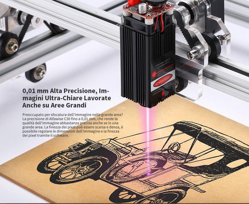 Codice Sconto Alfawise C30 a 151€, l'incisore Laser economico per Legno, Plastica..