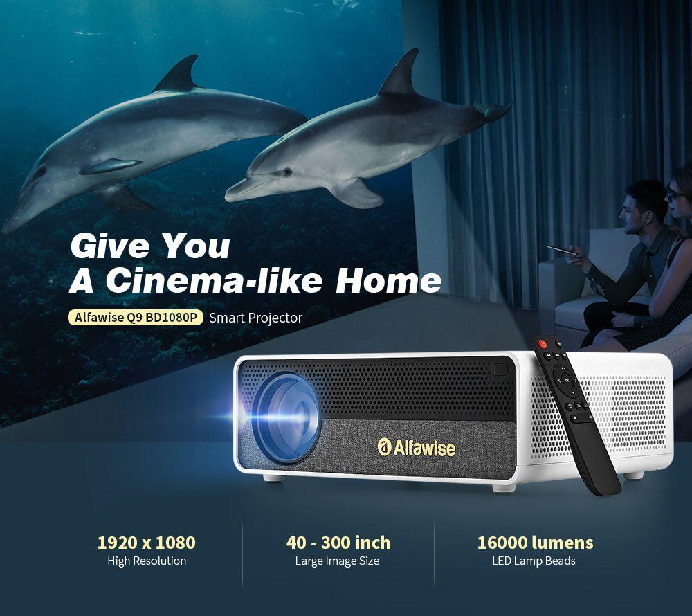 Codice sconto Alfawise Q9 a 161€, il proiettore FullHD fino a 300 pollici!
