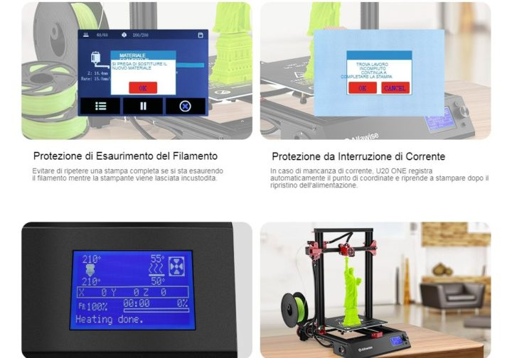 Alfawise-U20-ONE-1-720x504 Codice sconro Alfawise U20 ONE a 265€, stampante 3D con monitor touch