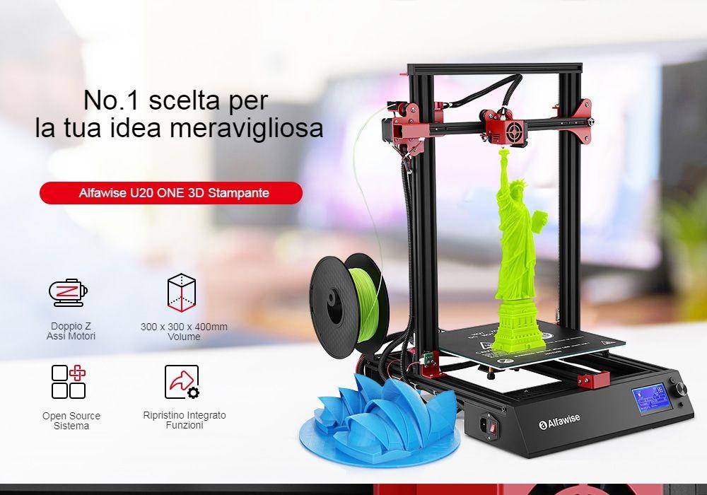 Codice sconro Alfawise U20 ONE a 265€, stampante 3D con monitor touch