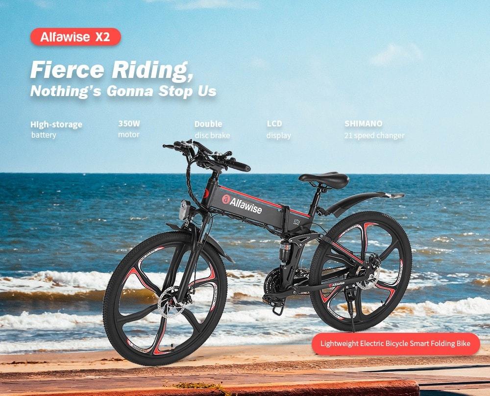 Offerta Alfawise X2 a 730€, la nuova bici elettrica da 26 pollici