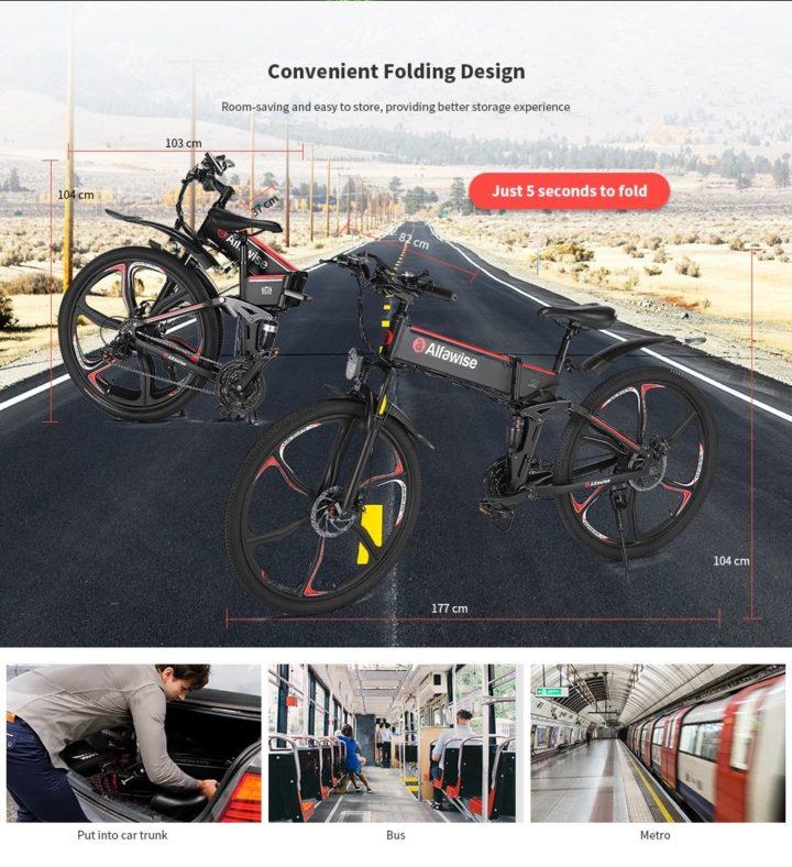 Alfawise-X2-5-720x788 Offerta Alfawise X2 a 730€, la nuova bici elettrica da 26 pollici