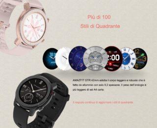 Codice sconto AMAZFIT GTR a 118€, lo smartwatch più elegante da 42/47mm