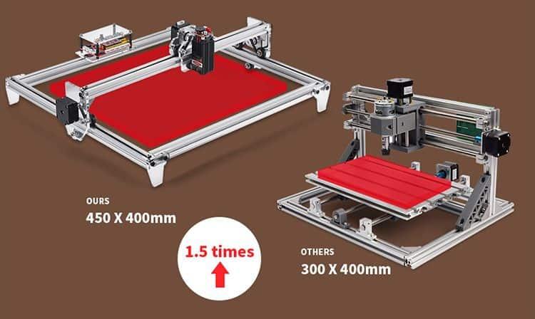Incisore-Laser-economico-Alfawise-C30-3 Incisore Laser economico: Alfawise C30 per il fai da te Facile e Professionale