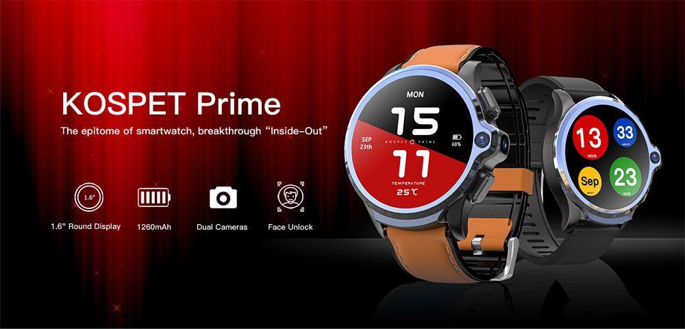 Offerta KOSPET Prime a 137€, il Primo smartwatch con 2 fotocamere + 4G