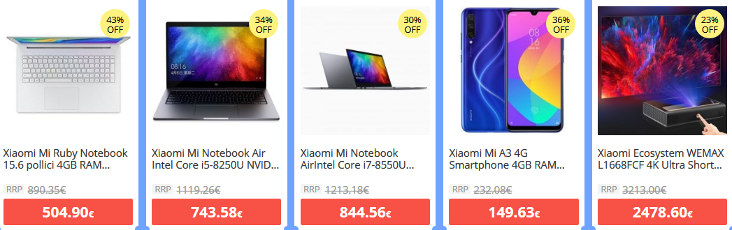 Offerte-e-Codici-Sconto-dei-migliori-Xiaomi-9-e1570095062424 -50% Offerte e Codici Sconto dei migliori Xiaomi disponibili online