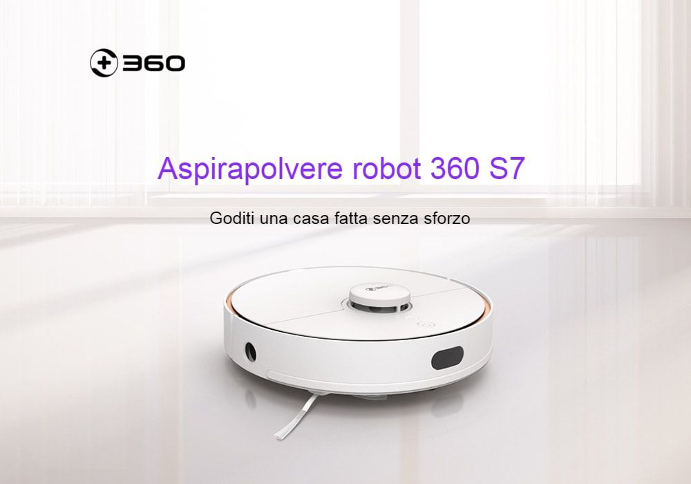 Offerta Robot Aspirapolvere a 422€: il nuovo modello 360 S7 per pulire Casa