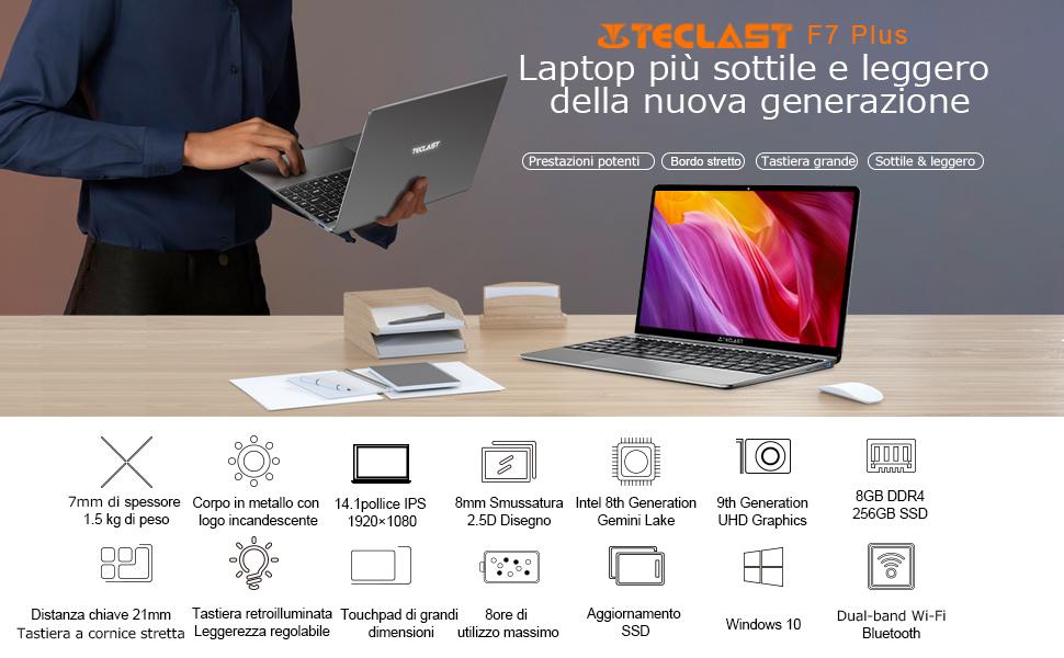 Teclast-F7-Plus-1 Teclast F7 Plus: tutti i dettagli del notebook cinese da 300€, Specifiche e Offerte