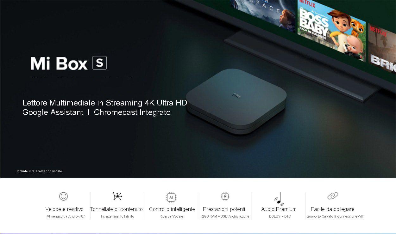 Codice sconto Xiaomi Mi Box S a 60€, il box tv con l'assistente vocale