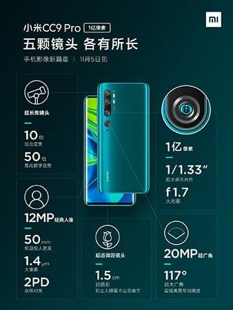 Xiaomi-Mi-Note-10-3 Confermato: Xiaomi Mi Note 10 con incredibili fotocamere Penta da 108 MP