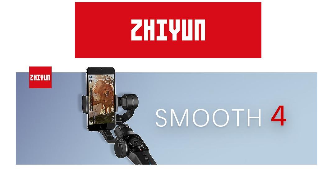 Stabilizzatore smartphone Zhiyun Smooth 4 a 3 assi: Dettagli, Foto e Offerte