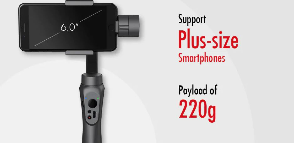CINEPEER-C11-3 Offerta CINEPEER C11 a 80€, il nuovo stabilizzatore per Smartphone Android iOS