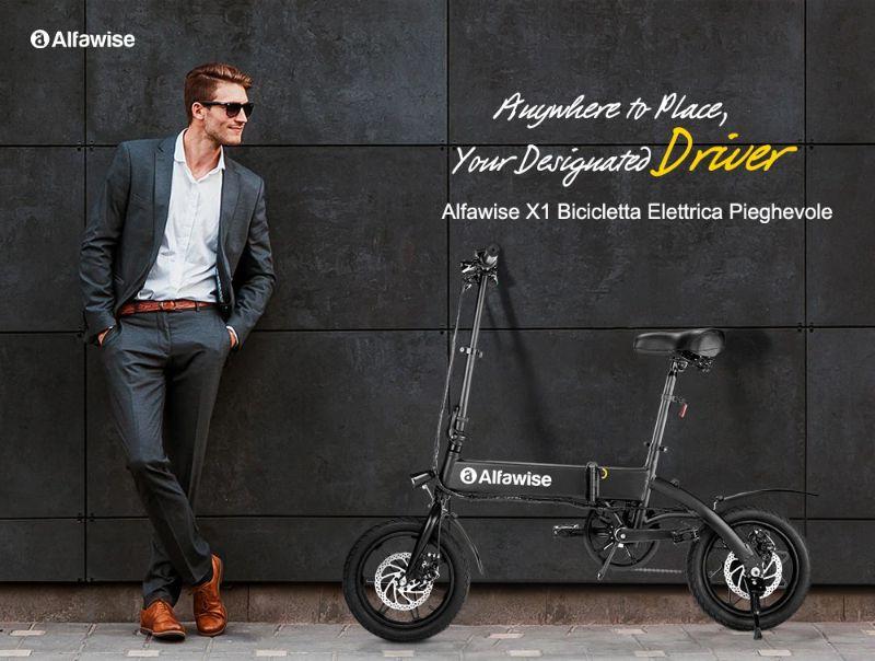 Codice Sconto Alfawise X1 a 422€, la bici elettrica Economica da 250W a 7,8 Ah