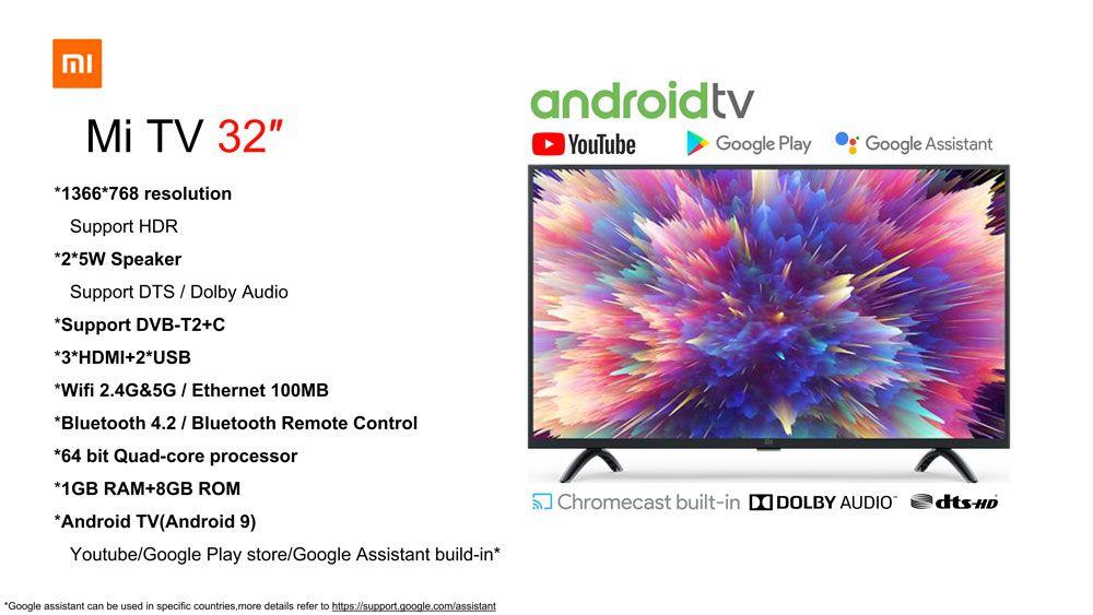 Codice Sconto Xiaomi Mi TV 4A PRO 32 a 209€, la Smart Tv Economica