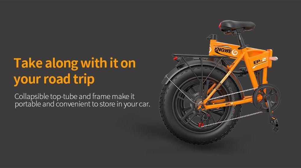 ENGWE-EP-2-1-1 Offerta ENGWE EP-2 a 641€, la migliore FAT Bike da 500W, bici elettrica Pieghevole