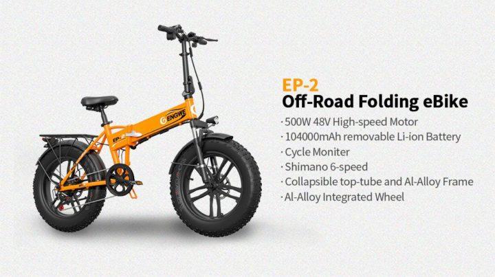 ENGWE-EP-2-4-720x403 Codice Sconto ENGWE EP-2 a 764€, la fat bike pieghevole da 500W