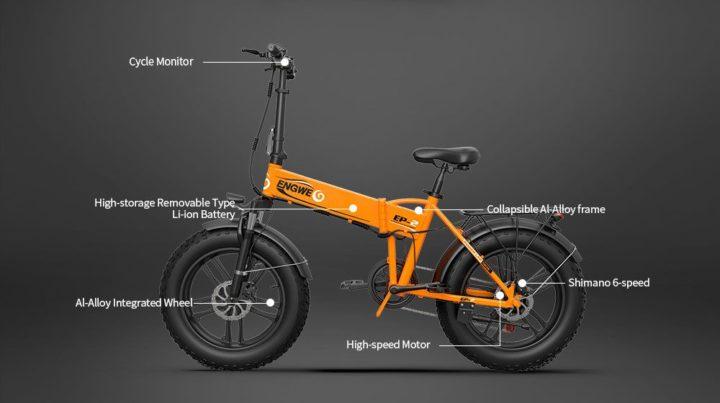 ENGWE-EP-2-5-720x403 Codice Sconto ENGWE EP-2 a 764€, la fat bike pieghevole da 500W