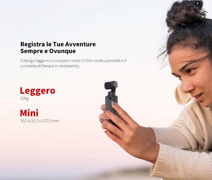 Offerta-FIMI-PALM-4 Offerta FIMI PALM a 132€, il nuovo Gimbal 4K sfida DJI Osmo Pocket