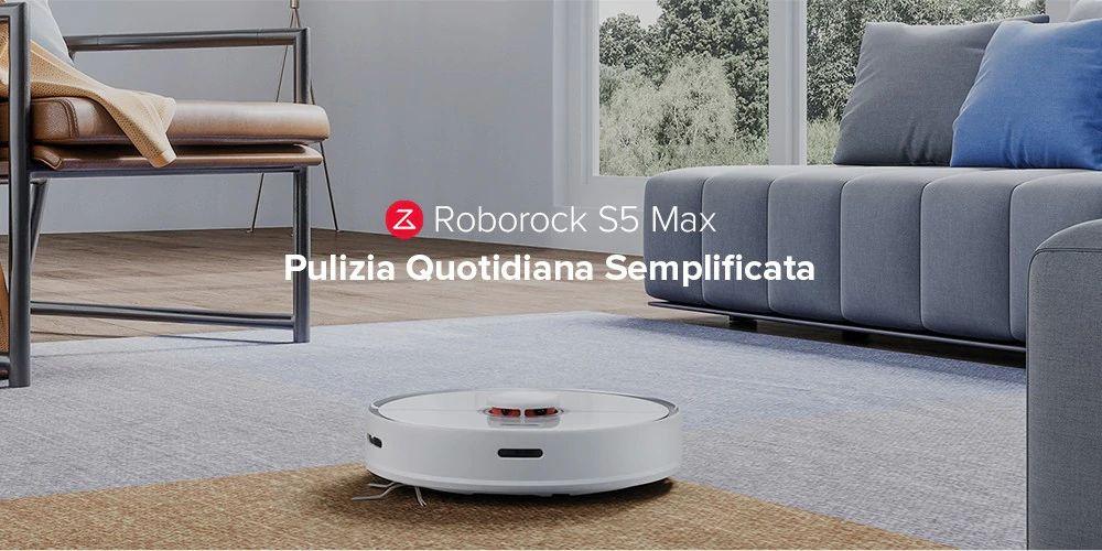 Codice Sconto Roborock S5 Max a 401€, Aspirapolvere Robot Xiaomi