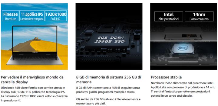 Teclast-F5R-1-720x351 Migliori Notebook Cinesi: Teclast F5R e Teclast F15, Dettagli e Offerte