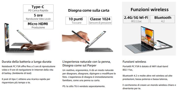 Teclast-F5R-2-720x371 Migliori Notebook Cinesi: Teclast F5R e Teclast F15, Dettagli e Offerte