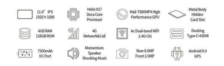 Teclast-M16-il-nuovo-Tablet-2-720x212 Codice Sconto Teclast M16 a 163€, il nuovo Tablet Android da 11 pollici