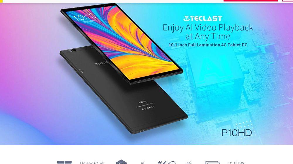 Offerta Teclast P10HD a 89€, il tablet economico da 10.1 pollici