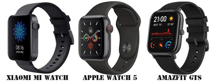Xiaomi Mi Watch VS Apple Watch 5 VS Amazfit GTS: Specifiche e Prezzi a confronto
