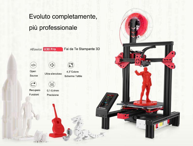 migliore-Stampante-3D-Alfawise-4 La migliore Stampante Economica 3D Alfawise U30 Pro, Dettagli e Offerte
