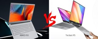 AIWO I10 VS Teclast F5, tutte le differenze dei 2 notebbok Cinesi convenienti