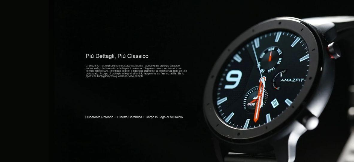 Offerta Amazfit GTR Lite a 99€ + Regalo, il nuovo Smartwatch alla Moda