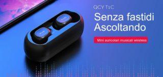 Offerta QCY T1C a 30€, i migliori auricolari Bluetooth 5.0 economici