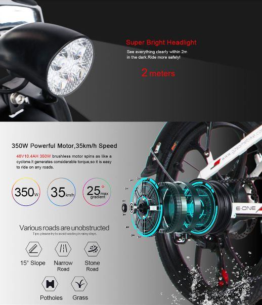 Offerta-Samebike-20LVXD30-4 Offerta Samebike 20LVXD30 a 582€, Bici elettrica 350W pieghevole da 20 pollici