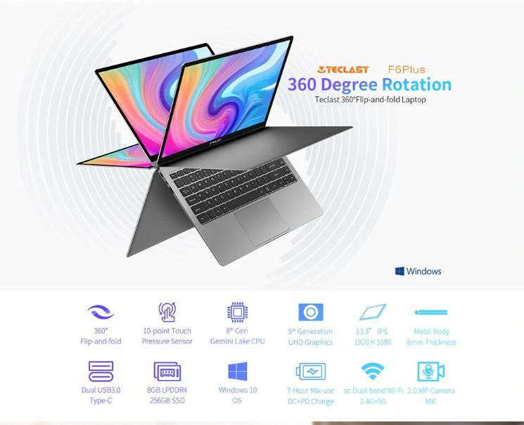 Teclast F6 Plus è il notebook Cinese più conveniente del 2019, Dettagli e Offerte