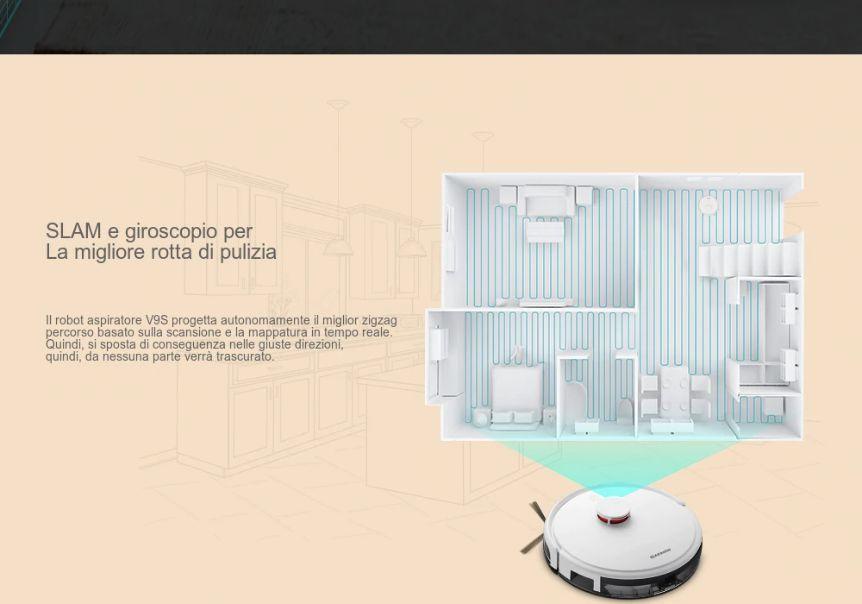 Codice-Sconto-Alfawise-V9S-BL517-2 Codice Sconto Alfawise V9S BL517 a 232€, Robot Aspirapolvere Economico