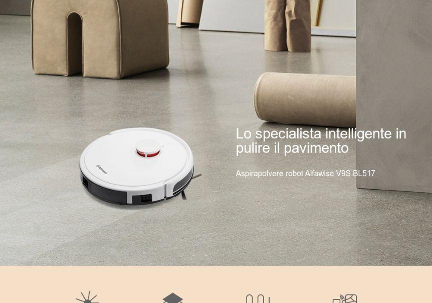 Codice Sconto Alfawise V9S BL517 a 232€, Robot Aspirapolvere Economico