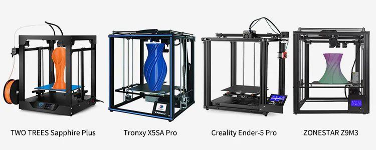 Guida Stampanti 3D: Sapphire Plus vs Tronxy X5SA Pro vs Creality Ender-5 Pro vs ZONESTAR Z9M3