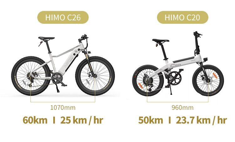 HIMO-C26-VS-HIMO-C20-2 HIMO C26 VS HIMO C20, quale Bici elettrica Xiaomi scegliere: Dettagli e Offerte