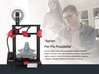 Offerta Alfawise U30 a 153€, la stampante 3D Low Cost con Display