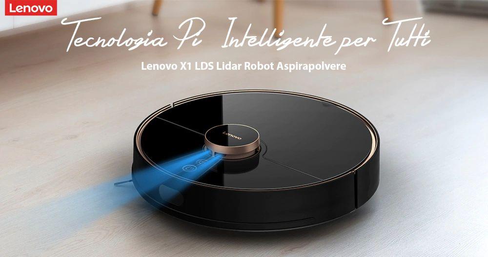 Offerta Lenovo X1 Lidar LDS a 397€, l'aspirapolvere robot ad Acqua silenzioso