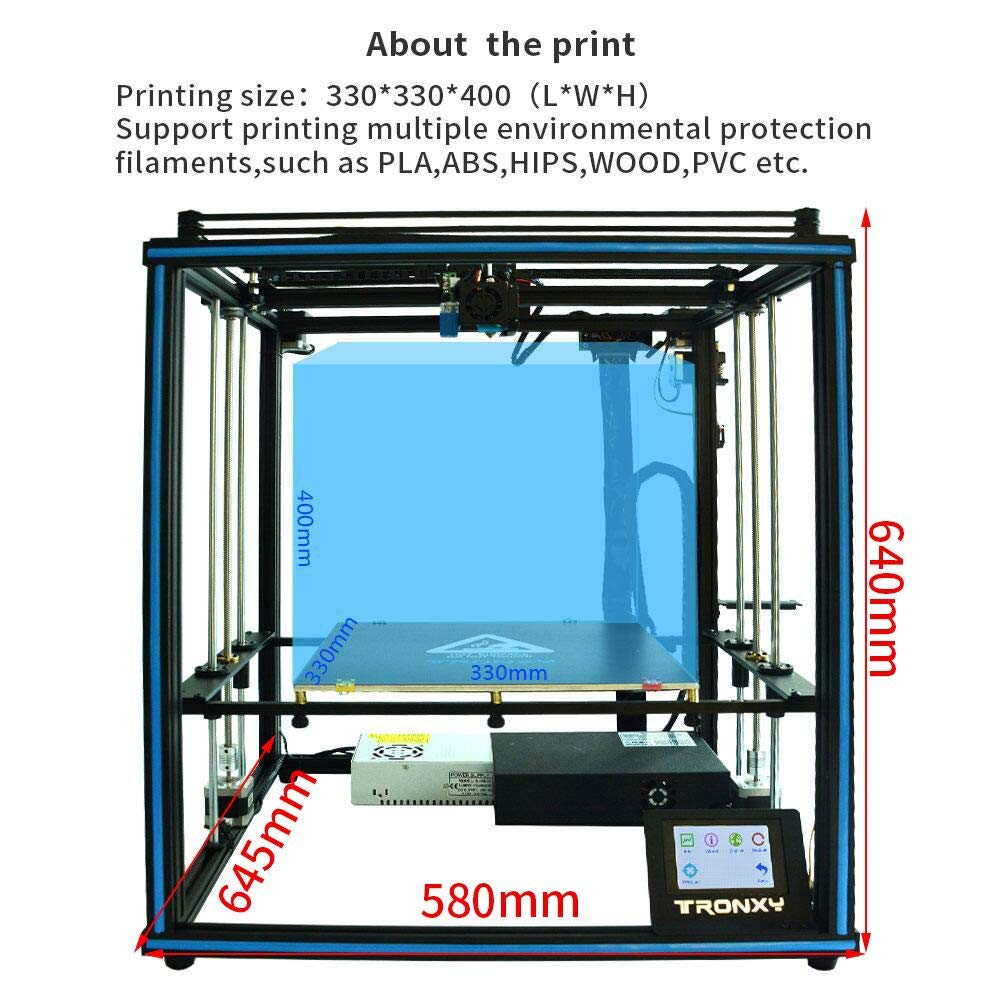Offerta-Tronxy-X5SA-a-282%E2%82%AC-4 Offerta Tronxy X5SA a 282€, stampante 3D alta precisione industriale