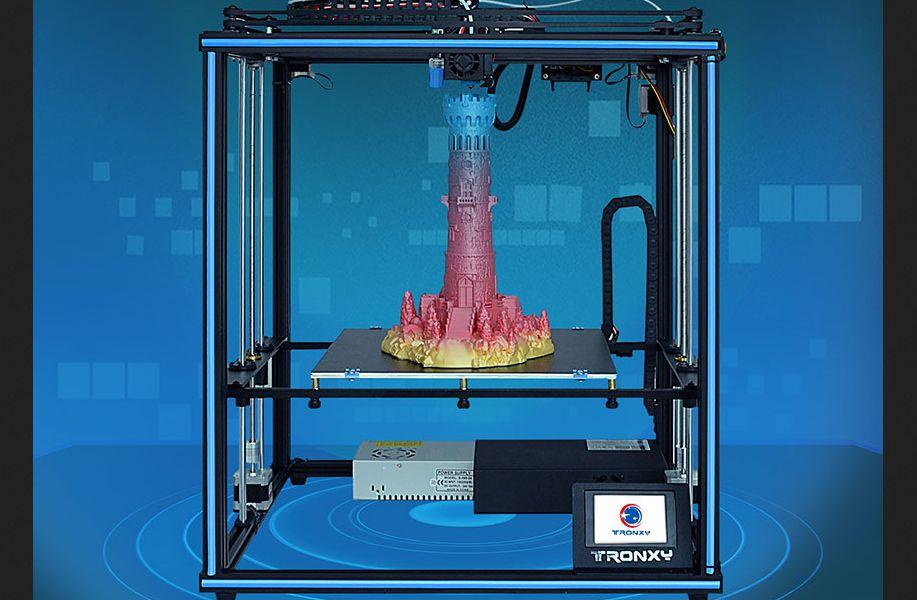 Offerta Tronxy X5SA a 282€, stampante 3D alta precisione industriale