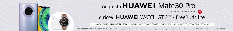 Offerta-HUAWEI-Mate-30-Pro Offerta HUAWEI Mate 30 Pro con 2 regali: Watch GT 2 + FreeBuds Lite