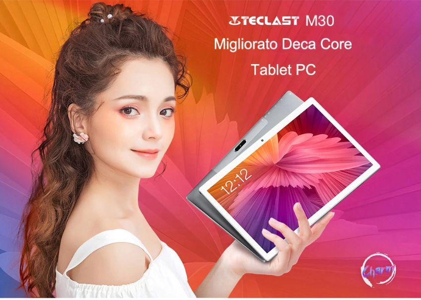 Offerta Teclast M30 a 155€, il Tablet Cinese economico da 128GB