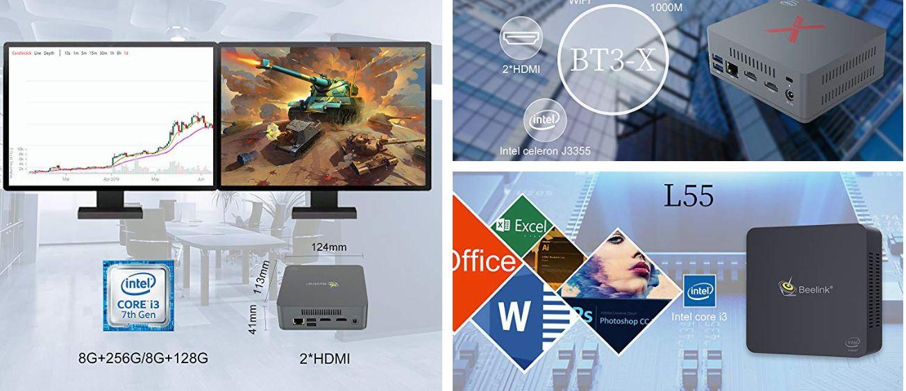 I migliori 6 Mini PC Beelink di fascia ALTA: 8GB di ram e SSD