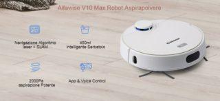 Alfawise V10 Max, il miglior Aspirapolvere Robot Economico