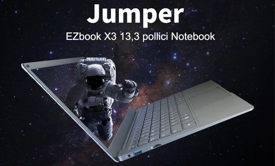 Jumper EZBook X3 il notebook cinese da 220€, Dettagli e Offerte